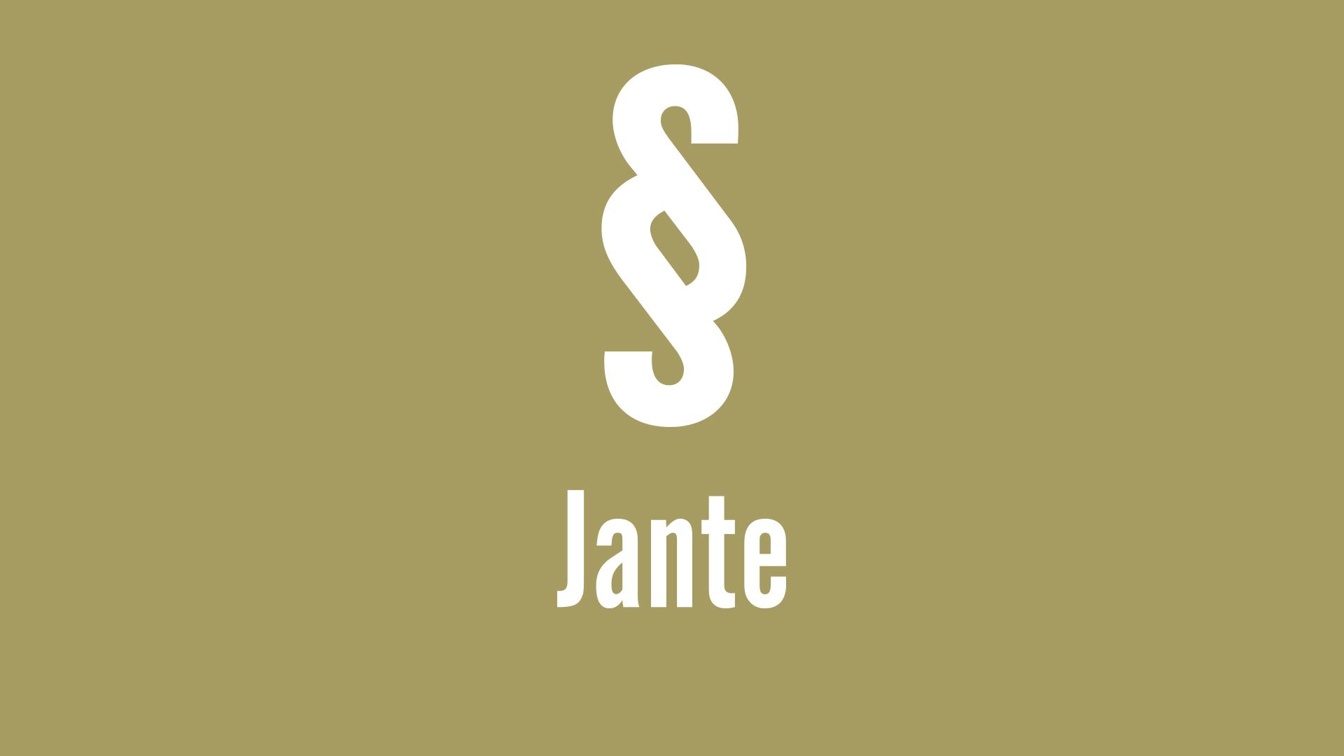 Lex Jante